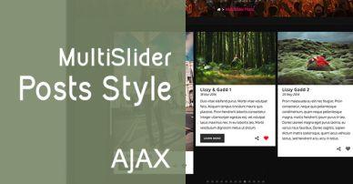 MultiSlider Posts Style
