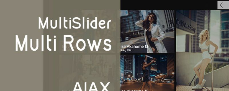 Multislider MultiRows