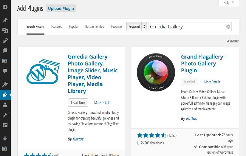 Install Gmedia Gallery Plugin